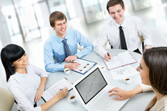 Group of happy business people Stock Photography