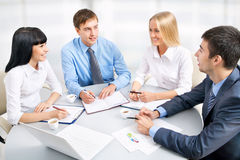 Group of happy business people Stock Photos