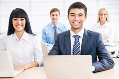 Group of happy business people Royalty Free Stock Images
