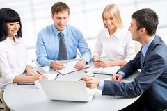 Group of happy business people Stock Image