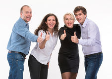 Group of happy business people Stock Images