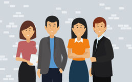 Group of Happy Business People. stock illustration