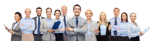 Group of happy businesspeople Stock Images