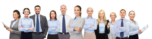 Group of happy businesspeople Royalty Free Stock Photos