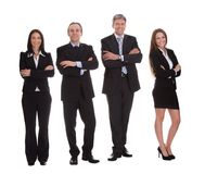 Group of happy businesspeople Stock Image
