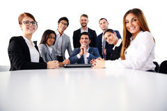 Group of a happy businesspeople Royalty Free Stock Images