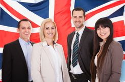 Group Of Happy Businesspeople Royalty Free Stock Photography