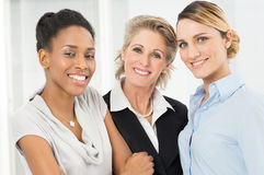 Group Of Happy Businesswomen Only Stock Image