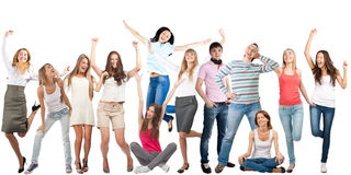 Group of happy cheerful people Royalty Free Stock Photography