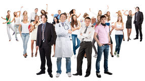 Group of happy cheerful people Stock Photos