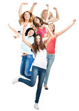 Group of happy cheerful women Stock Photos