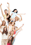 Group of happy cheerful women Stock Photo