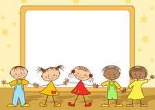 Group of happy children. Stock Photos