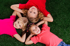 Group of happy children Stock Image