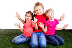 Group of happy children Royalty Free Stock Photo