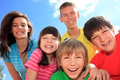 Group of happy children Royalty Free Stock Photos