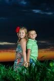 Group of happy children Stock Photos
