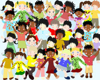 Group of happy children of different nationalities Stock Photography