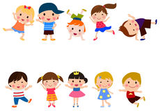 Group of happy children Stock Photography