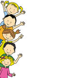 Group of happy children Stock Photo