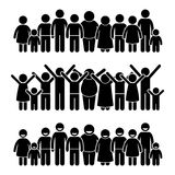 Group of Happy Children Standing Smiling and Raising Hands Clipart Royalty Free Stock Photo