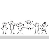Group of happy children. Royalty Free Stock Photography