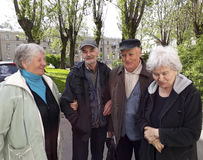 Group of happy elderly people relaxing Royalty Free Stock Photo