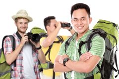 Happy excited traveler Royalty Free Stock Photography