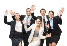 Group of happy executives Royalty Free Stock Image
