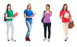 Group of happy female students Stock Images