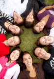 Group of happy friends Stock Image