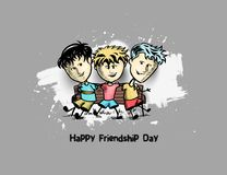 Group of happy friends enjoying Friendship Day. royalty free stock images