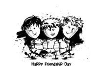 Group of happy friends enjoying Friendship Day. stock photography