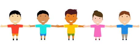 Group of happy  friends holding hands. Stock Images