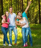 Group of happy friends outdoors Royalty Free Stock Photography