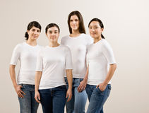 Group of happy friends posing stock photography