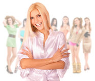 Group of happy girls Stock Images