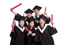 Group of happy graduates student Royalty Free Stock Image