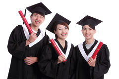 Group of happy graduates student Stock Photos