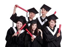 Group of happy graduates student Royalty Free Stock Photos