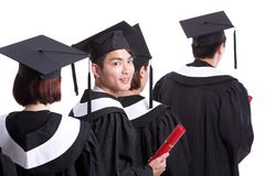 Group of happy graduates student Stock Photography