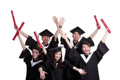 Group of happy graduates student Royalty Free Stock Photo