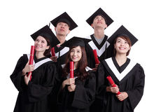 Group of happy graduates student Royalty Free Stock Images