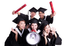 Group of happy graduates student Royalty Free Stock Photography