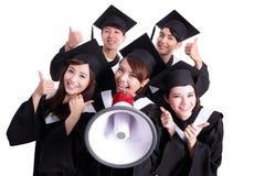 Group of happy graduates student Stock Photos
