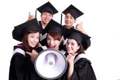 Group of happy graduates student Stock Image