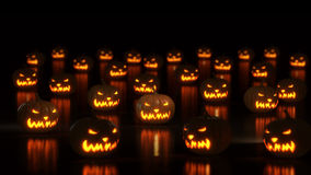 Group of happy halloween pumpkins Stock Photography