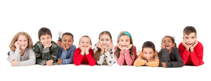 Group of happy kids Stock Photography