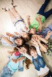 Group of happy kids Royalty Free Stock Photo