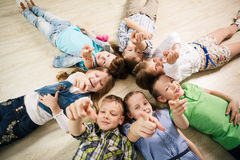 Group of happy kids Royalty Free Stock Image